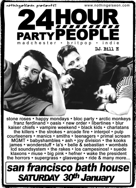 24 Hour Party People poster, 30 January 2010